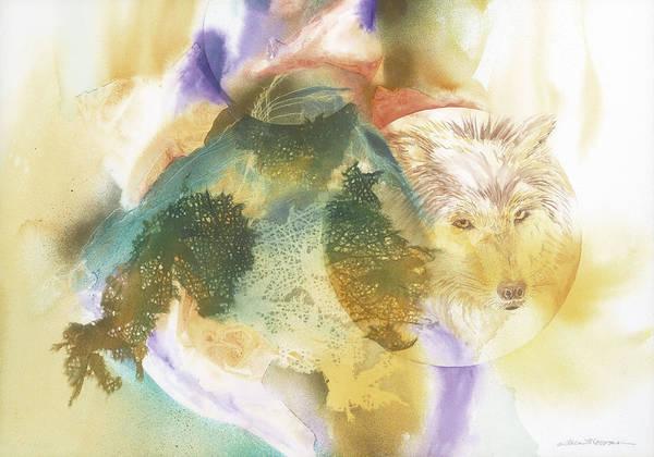 Painting - Wolf Eyes by Tara Moorman