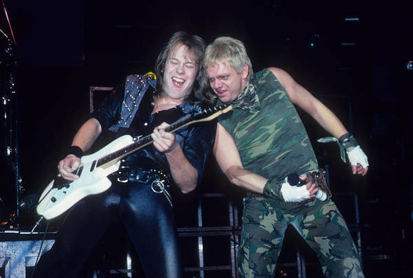 Photograph - Wolf Hoffman And Udo With Accept by Rich Fuscia