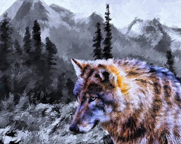 Wall Art - Painting - Wolf In The Wilderness by Movie Poster Prints