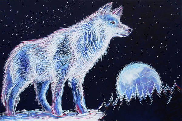 Painting - Wolf Moon by Angela Treat Lyon