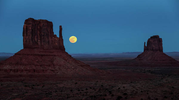 The Mitten Photograph - Wolf Moon  by James Marvin Phelps