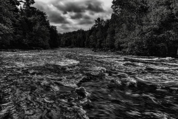 Photograph - Wolf River White Riffles Black And White by Dale Kauzlaric
