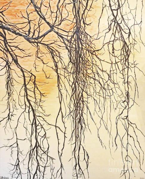 Painting - Wolf Rivers Edge by Lizi Beard-Ward