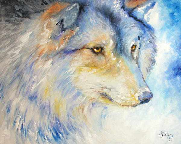 Painting - Wolf Solitude by Marcia Baldwin