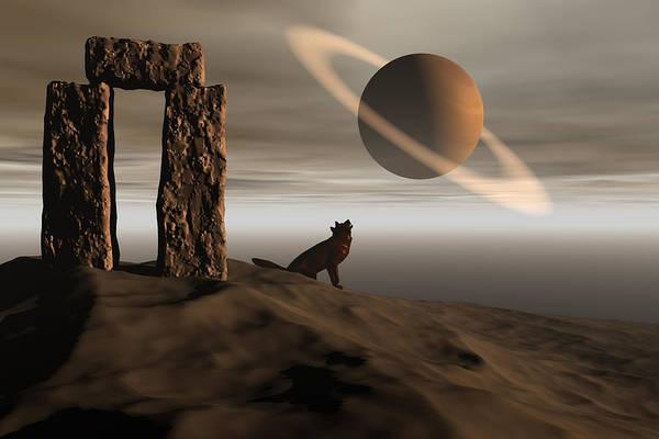Bryce Digital Art - Wolf Song by Claude McCoy