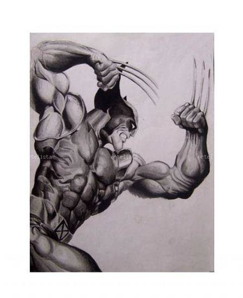 Wolverines Drawing - Wolverine by Luis Carlos A
