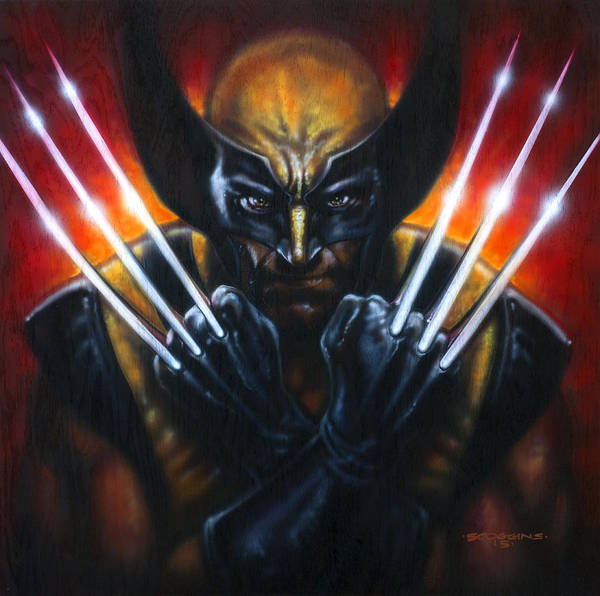 Wall Art - Painting - Wolverine by Timothy Scoggins