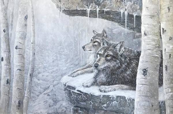 Mccormick Wall Art - Painting - Wolves - Friends Forever by ML McCormick