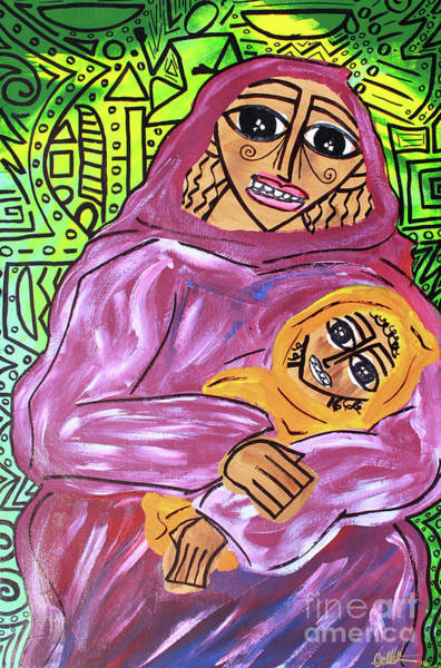 Woman And Child Art Print