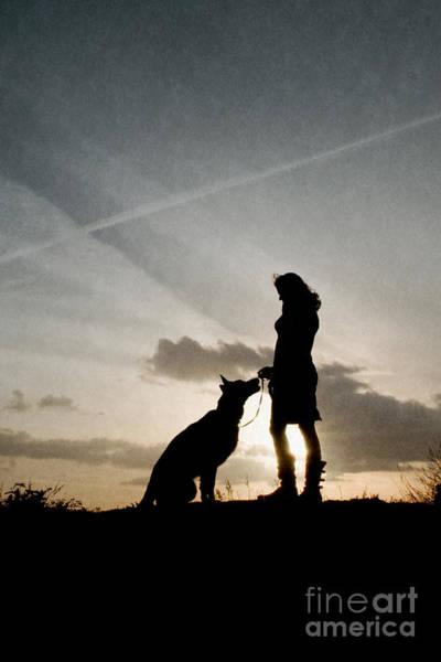 Photograph - Woman And Dog  by Clayton Bastiani