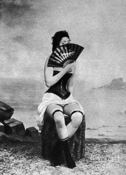 Photograph - Woman And Fan, C1887 by Granger