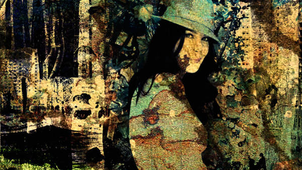 Disintegration Digital Art - Woman And Trees by Felice Monda