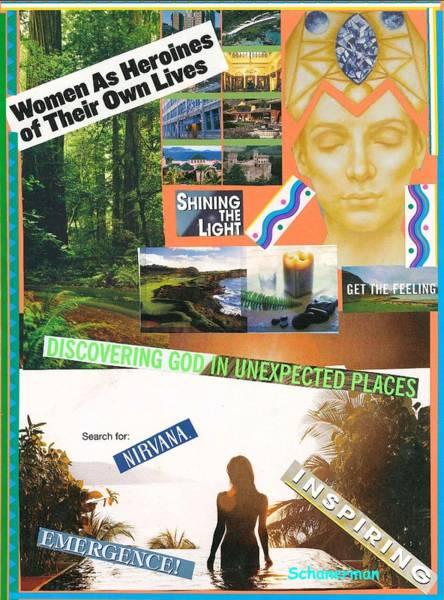 Mixed Media - Woman As Inspiration by Susan Schanerman