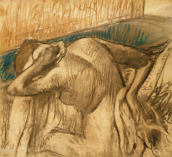 Quick Wall Art - Pastel - Woman At Her Toilet by Edgar Degas