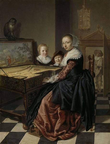 Painting - Woman At The Virginal  Jan Miense Molenaer  1630  1640 by Artistic Panda
