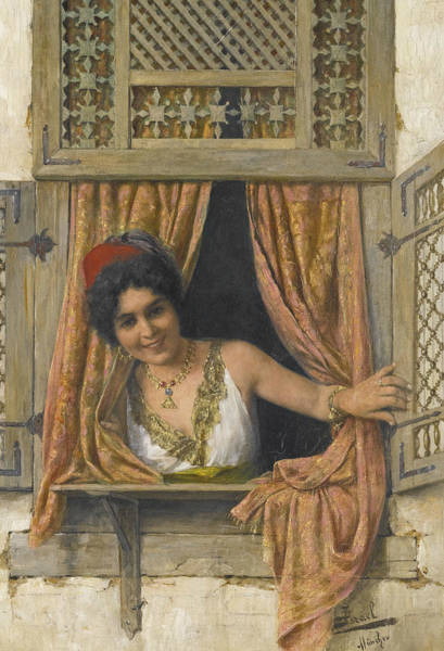 Painting - Woman At The Window by Daniel Israel