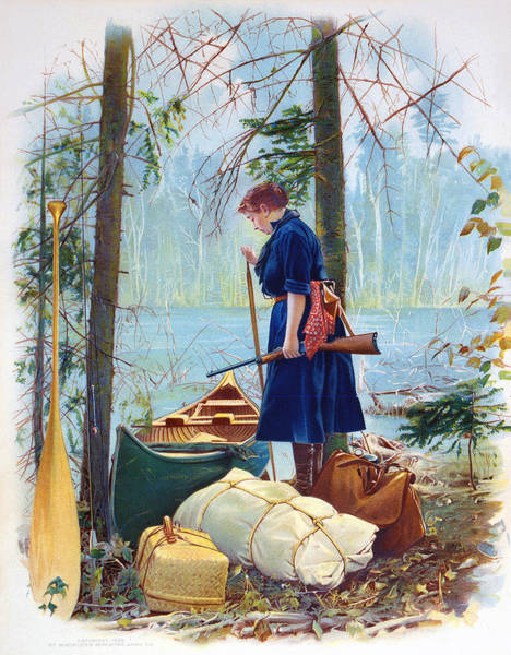 Upland Wall Art - Painting - Woman Camper Cropped by Unknown