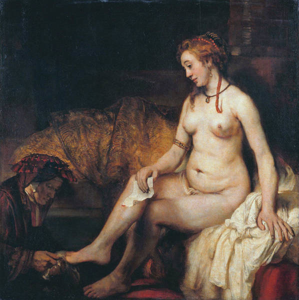 Perfect Body Painting - Woman Dressing by Rembrandt