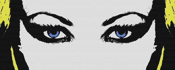 Blue Eye Digital Art - Woman Eyes by Edouard Coleman