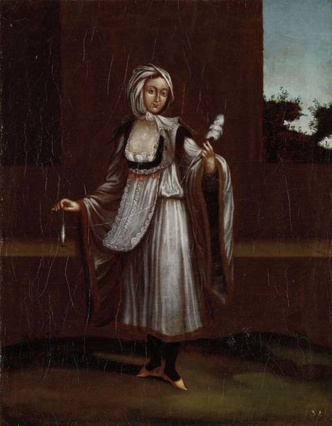 Painting - Woman From The Island Of Patmos, Workshop Of Jean Baptiste Vanmour, 1700 - 1737 by Artistic Panda