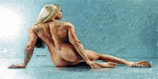 Digital Art - Woman In A Flattering Pose by Rafael Salazar