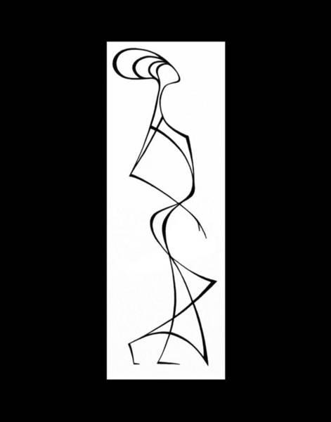 Wall Art - Drawing - Woman In A Hat V by Lyudmila Kogan