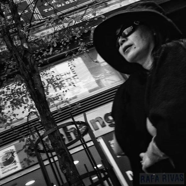 Wall Art - Photograph - Woman In Black  #woman #lady #hat by Rafa Rivas