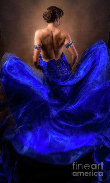 Photograph - Woman In A Billowing Blue Gown by Maggie McCall