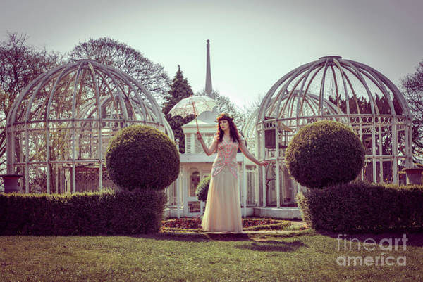 Aviary Photograph - Woman In Botanical Gardens by Amanda Elwell