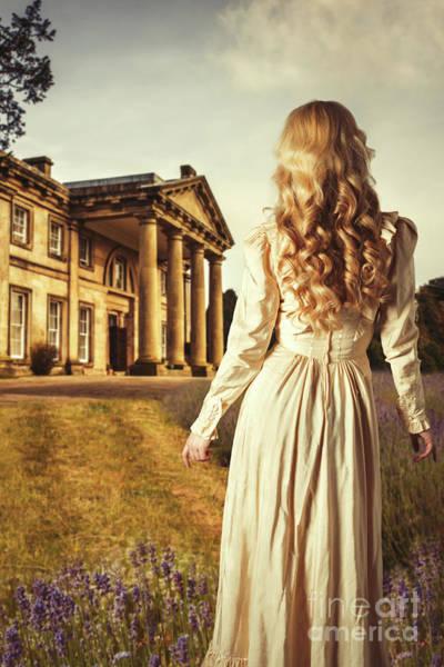 Period Photograph - Woman In Edwardian Dress by Amanda Elwell