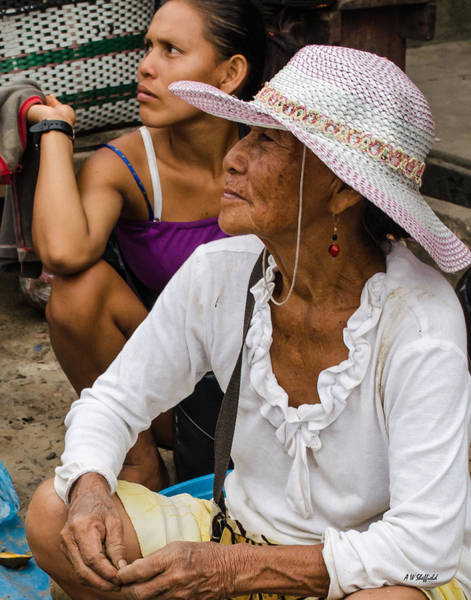 Photograph - Woman In Hat At Market In Iquitos by Allen Sheffield