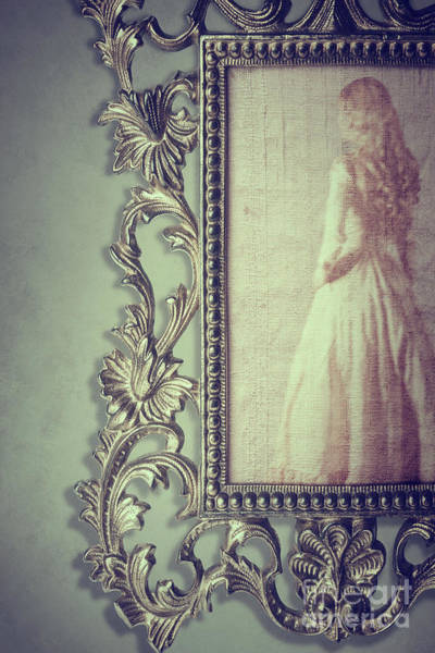 Wall Art - Photograph - Woman In Ornate Mirror by Amanda Elwell