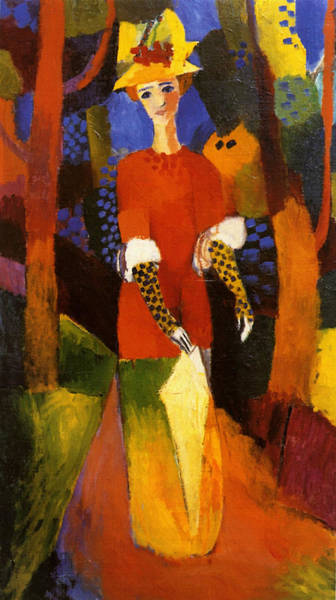 Painting - Woman In Park by August Macke