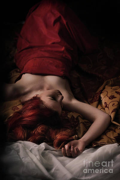 Photograph - Woman In Red Dress by Jelena Jovanovic