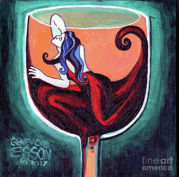 Wall Art - Painting - Woman In Red by Genevieve Esson