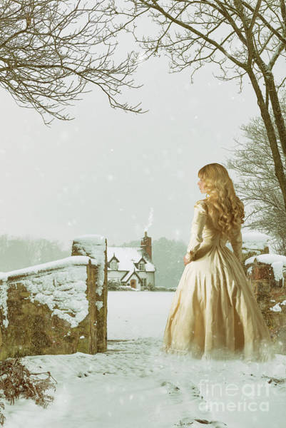 Wall Art - Photograph - Woman In Snow Scene by Amanda Elwell