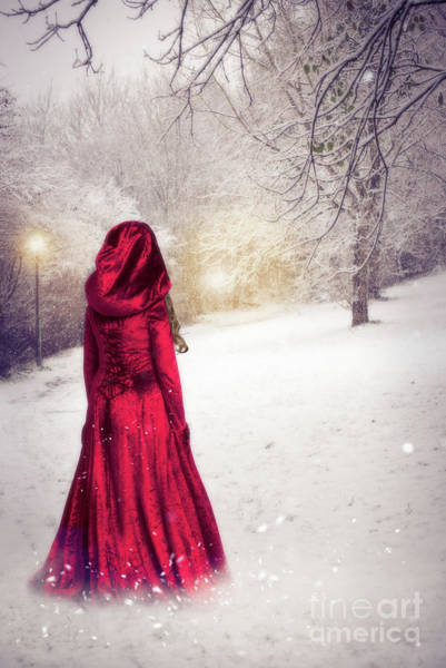 Wall Art - Photograph - Woman In The Snow by Amanda Elwell