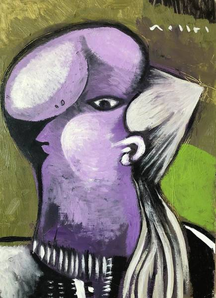 Violet Painting - Woman In Violet  by Mark M Mellon