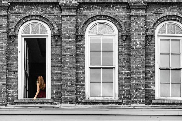 Photograph - Woman In Window by Sharon Popek