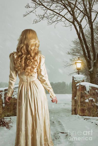 Wall Art - Photograph - Woman In Winter Scene by Amanda Elwell