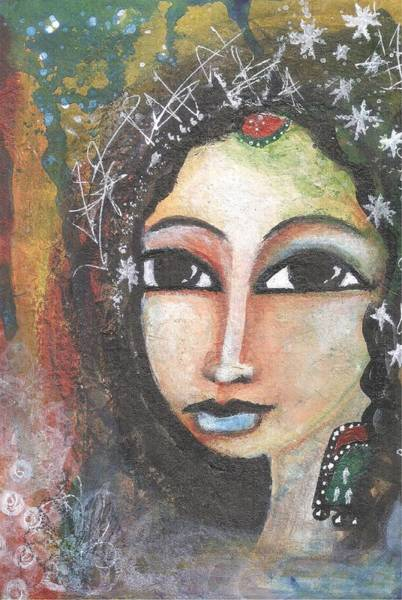 Mixed Media - Woman - Indian by Prerna Poojara