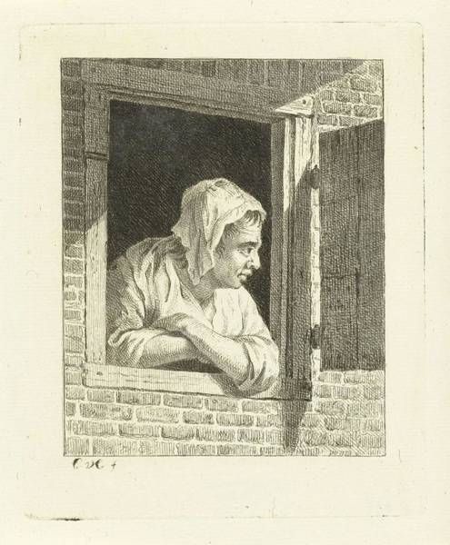 Painting - Woman Leaning On Arms In Window Opening Cornelis Van Cuylenburgh  II   1768  1827 by Artistic Panda
