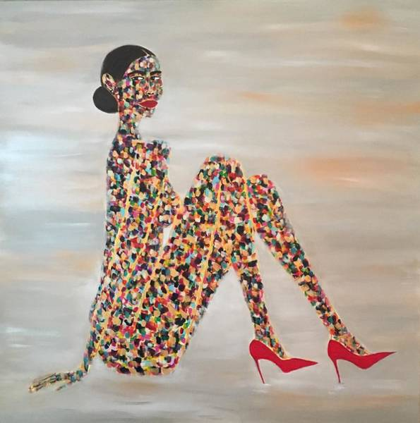 Painting - Woman Of Color by Crystal Stagg