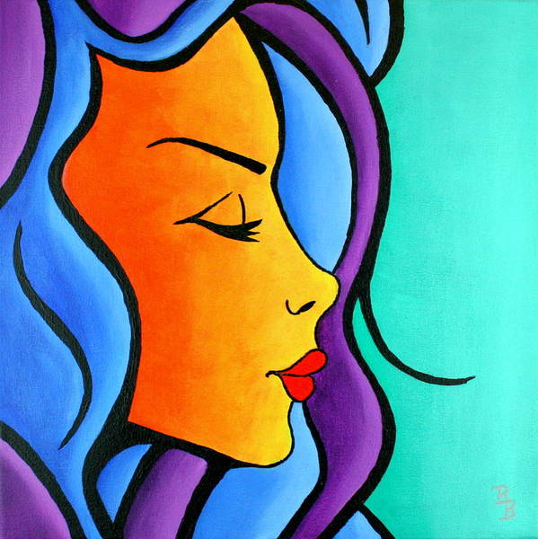 Painting - Woman Of Color, Eyes Closed by Bob Baker