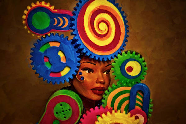 Kaleidoscopes Photograph - Woman Of Colors  by Jeff  Gettis