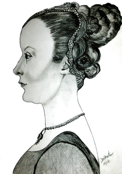 Drawing - Woman Of Nobility by Donna Proctor
