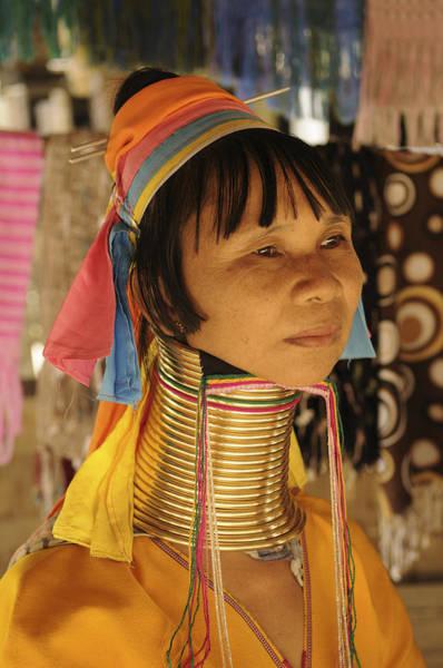 Wall Art - Photograph - Woman Of The Karen Tribe by Liz Pinchen