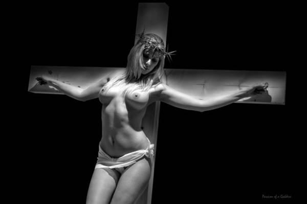 Crucifiction Wall Art - Photograph - Woman On Cross by Ramon Martinez