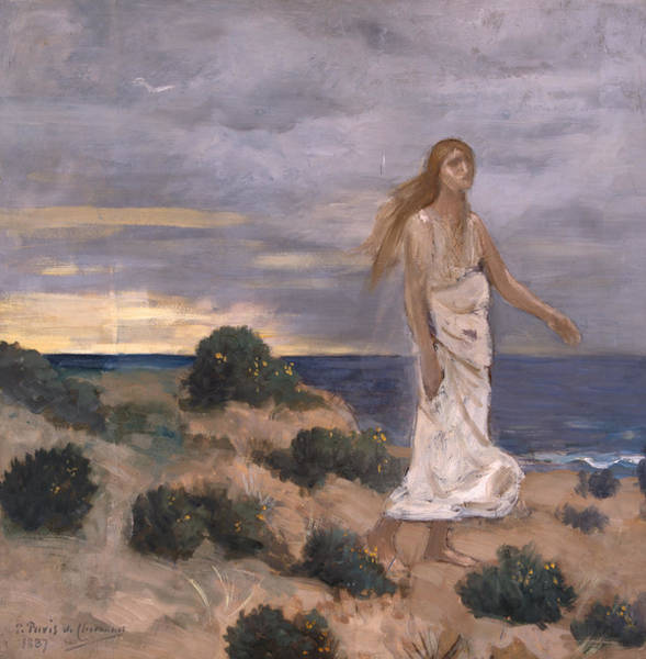 Painting - Woman On The Beach by Pierre Puvis de Chavannes