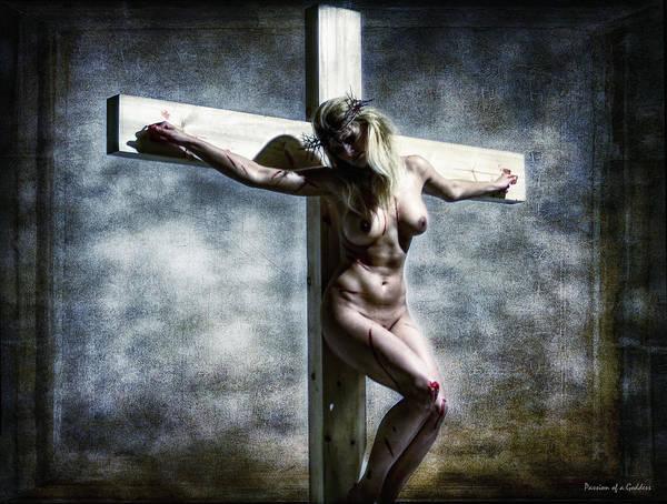 Crucifixion Of Jesus Photograph - Woman On The Cross I by Ramon Martinez